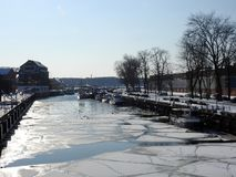 Klaipeda town in winter, Lithuania Stock Image