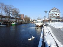 Klaipeda town in winter, Lithuania Royalty Free Stock Photos