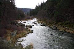 Klamath flodkanjon Fotografering för Bildbyråer