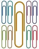 klamerek koloru metalu papier ilustracja wektor