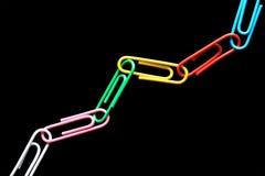 klamerka łańcuszkowy papier Zdjęcie Royalty Free