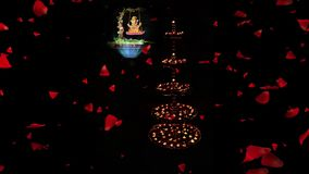 Klamerka dla dla Diwali powitania Dekoracyjny piękny tradycyjny Diwali Diya Ganesha, lampy lub władyka zbiory