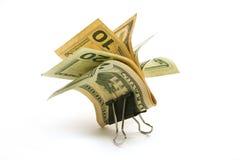 klamerka pieniądze Obrazy Stock