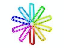 klamerki barwiący papier Zdjęcia Royalty Free