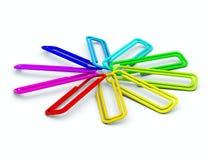 klamerki barwiący papier Zdjęcie Stock