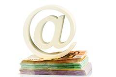 Klammeraffe und Rechnungen Lizenzfreie Stockbilder