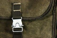 klamra na starym plecaku zdjęcie royalty free