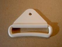 Klamra plastikowy biel zdjęcia stock