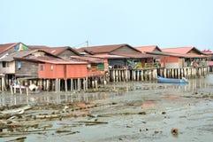 Klanbryggor av Penang Arkivbilder