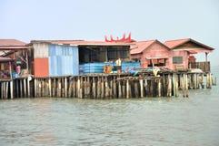 Klanbryggor av Penang Royaltyfri Fotografi
