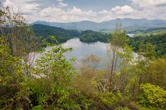 Klang Gates Dam as seen from Tabur Hill. In Malaysia Royalty Free Stock Images