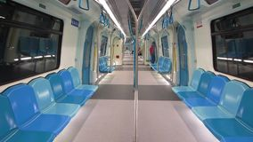 Klang Valley Mass Rapid Transit coach, Kuala Lumpur, Malaysia - circa January 2017. stock video footage