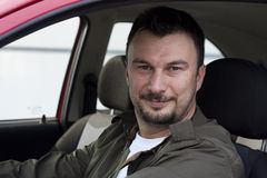 Klant met Nieuwe Auto Stock Foto