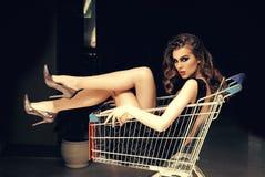 Klant, shopaholic, het winkelen, winkel stock foto's