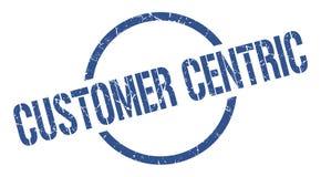 klanten centric zegel stock illustratie