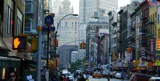 Klanten in Chinatown, de Stad van New York Stock Foto