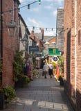 Klanten van Engelse Muren in Oswestry Shropshire stock fotografie
