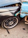 Klap door auto royalty-vrije stock afbeeldingen