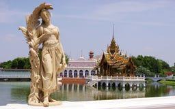 Klap-pa-in paleis in Ayutthaya Thailand Royalty-vrije Stock Afbeelding