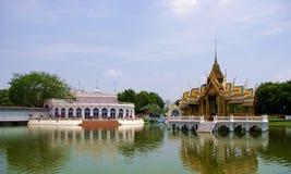 Klap-pa-in paleis in Ayutthaya Thailand Stock Foto's
