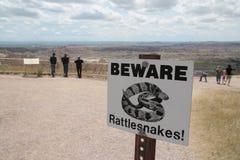 Klapperschlangen unterzeichnen herein Canyonlands Lizenzfreies Stockbild