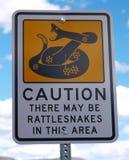 Klapperschlangen-Zeichen Stockbilder