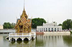 Klappijn Royal Palace in Ayutthaya, Thailand Royalty-vrije Stock Afbeeldingen