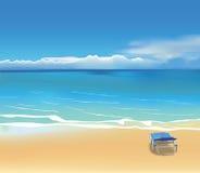 Klappstuhl auf dem Strand Lizenzfreie Abbildung
