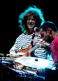 Klaps Metheny und Antonio Sanchez am Umbrien-Jazz lizenzfreie stockfotografie