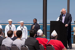 Klaps Quinn an USS Illinois, das Zeremonie benennt Stockfotografie