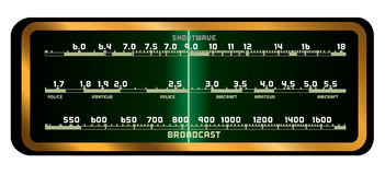 Klapy radia ekran Zdjęcie Stock