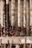 Klapy stara kontrpara przy fabryką Obraz Royalty Free