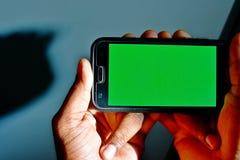 Klar bakgrund för grön skärm som ska användas som bakgrund eller mall i rengöringsdukdesign royaltyfria bilder