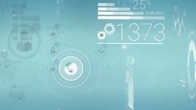 Klar blå företags bakgrund med abstrakta beståndsdelar av Infographics