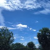 Klar blå himmel i sommar Royaltyfri Fotografi