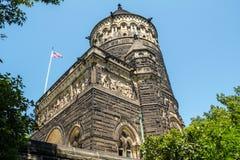 klar cleveland daggarfield james minnes- ohio vinter Garfield Monument Cleveland royaltyfria bilder