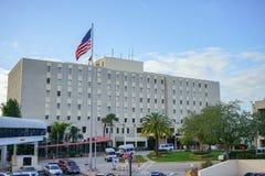 klar cleveland daggarfield james minnes- ohio vinter Haley Veterans Hospital fotografering för bildbyråer