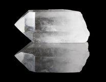 klar crystal punktkvarts Royaltyfria Bilder