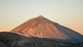 Klar dag på gryning Volcano Teide Tenerife Canary Arkivfoto