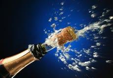 klar flaskberömchampagne Royaltyfri Bild
