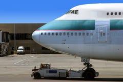 klar flygplanavvikelse Arkivbild