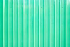 Klar grön zinkväggbakgrund Arkivbild