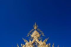 Klar himmel på Wat Rong Khun Chiang Rai royaltyfri fotografi