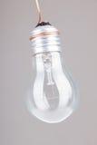 Klar ljus kula med glödtrådvisning Arkivbild