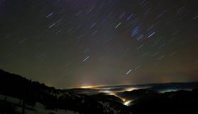klar natt Arkivfoto