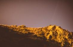 Klar natt med stjärnor Arkivbilder