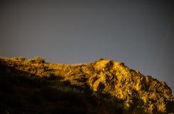 Klar natt med stjärnor Fotografering för Bildbyråer