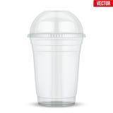 Klar plast- kopp med sfärkupollocket vektor illustrationer