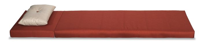 klar röd textur för madrass som ska användas Arkivfoto