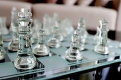 Klar schackuppsättning royaltyfri foto